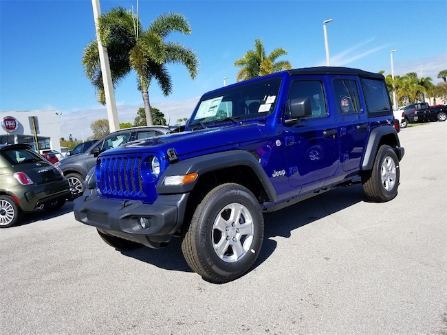 New 2019 Jeep Wrangler UNLIMITED SPORT S 4X4 Sport Utility For Sale/Lease Fort Pierce, Florida