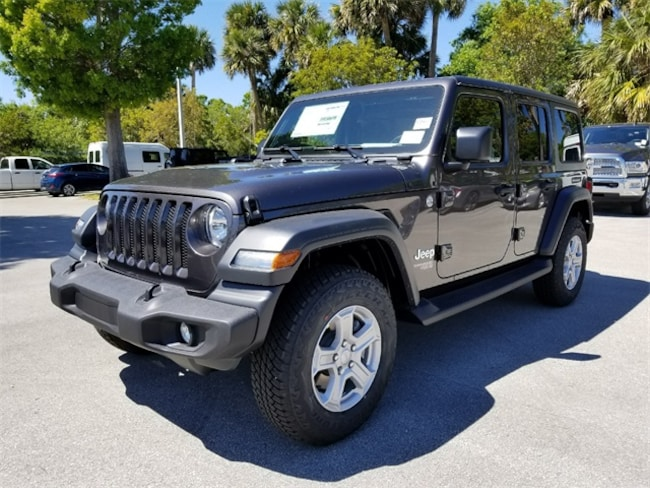 New 2018 Jeep Wrangler UNLIMITED SPORT S 4X4 Sport Utility For Sale/Lease Fort Pierce, Florida