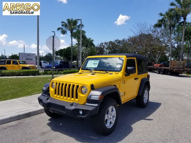 New 2019 Jeep Wrangler SPORT S 4X4 Sport Utility For Sale/Lease Tamarac, Florida
