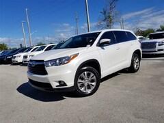 Used 2015 Toyota Highlander LE V6 SUV 5TDZKRFH0FS104237 for Sale in West Palm Beach, FL