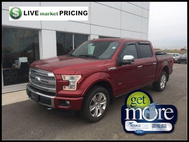 Used 2015 Ford F-150 Platinum ONE OWNER LIKE NEW!! Super Crew  in Nisku