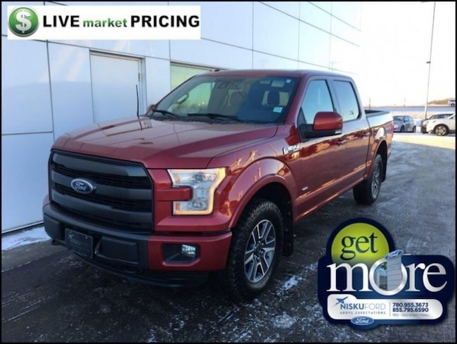 Used 2015 Ford F-150 Lariat - Leather Seats -  Bluetooth Super Crew  in Nisku