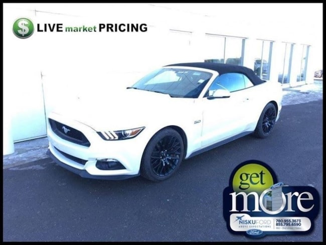 Used 2017 Ford Mustang GT Premium - Leather Seats Convertible  in Nisku