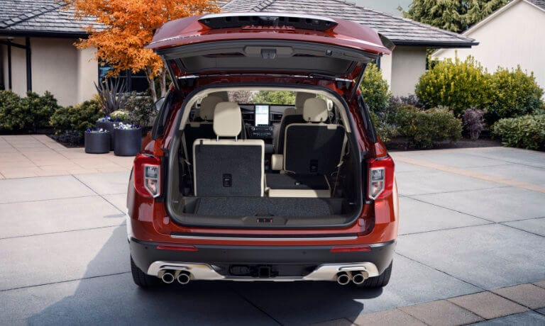 2020 Ford Explorer cargo space view