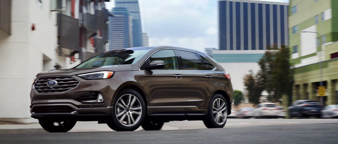 2019 Ford Edge exterior view driving in city