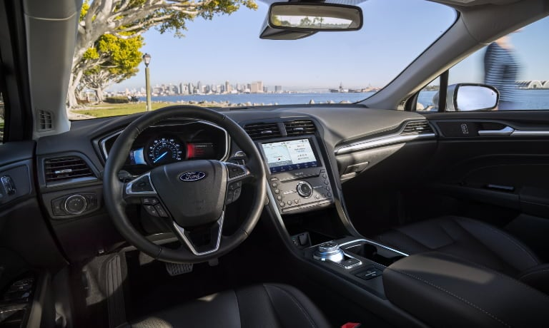 2020 Ford Fusion interior tech view of dashboard