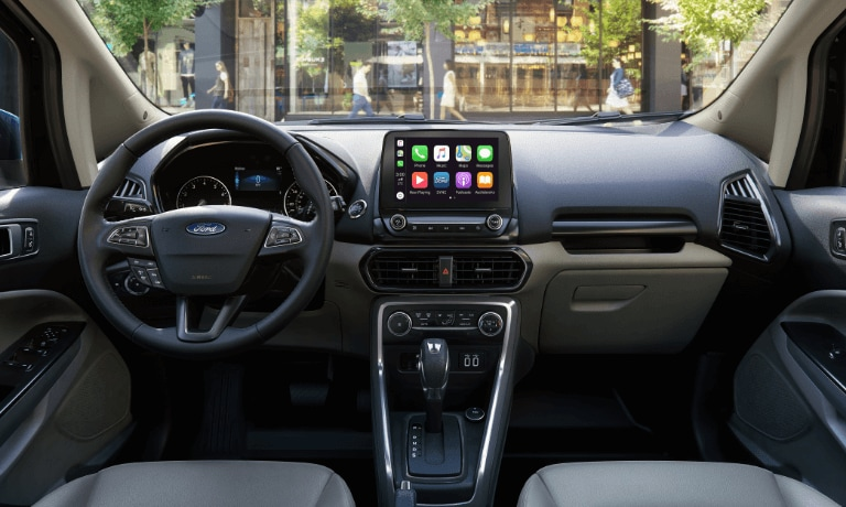 2020 Ford EcoSport interior dashboard and infotainment view