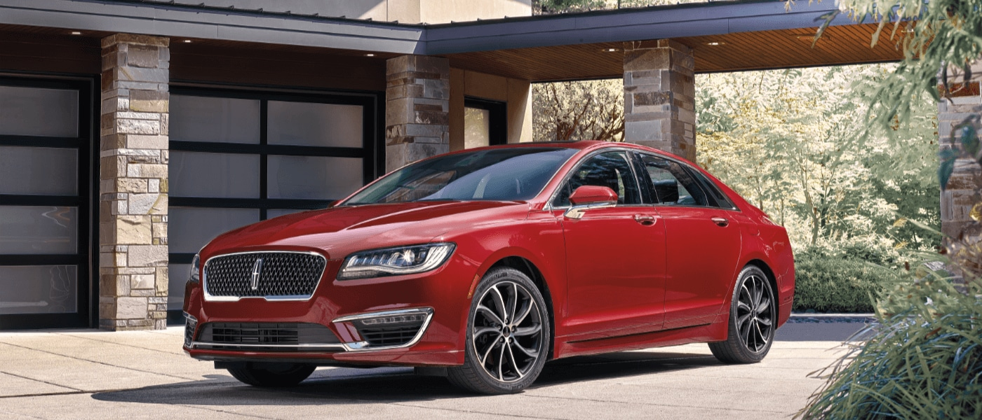2019 Lincoln MKZ parked outside of house