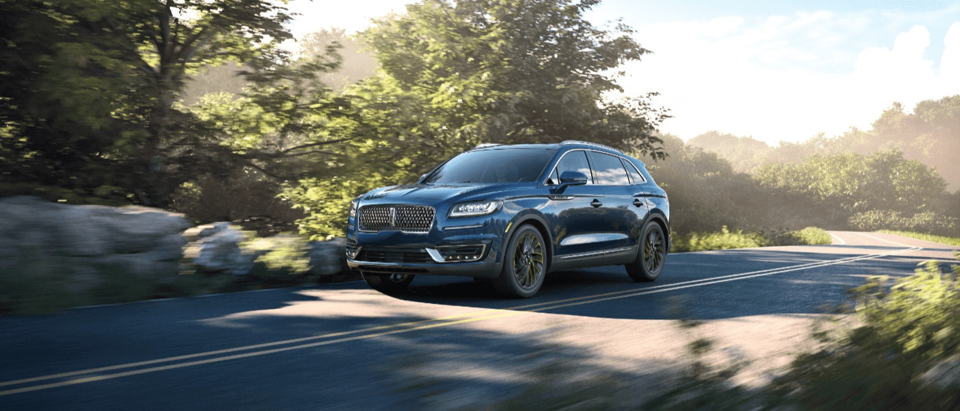 2019 Lincoln Nautilus driving on road exterior view