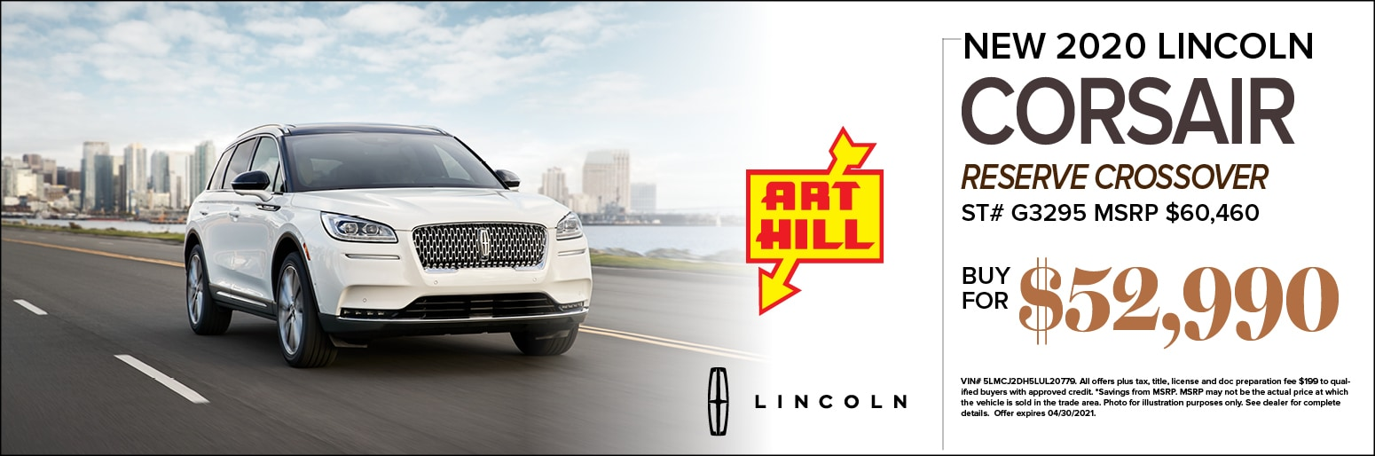New 2020 Lincoln Corsair Reserve Special Offer