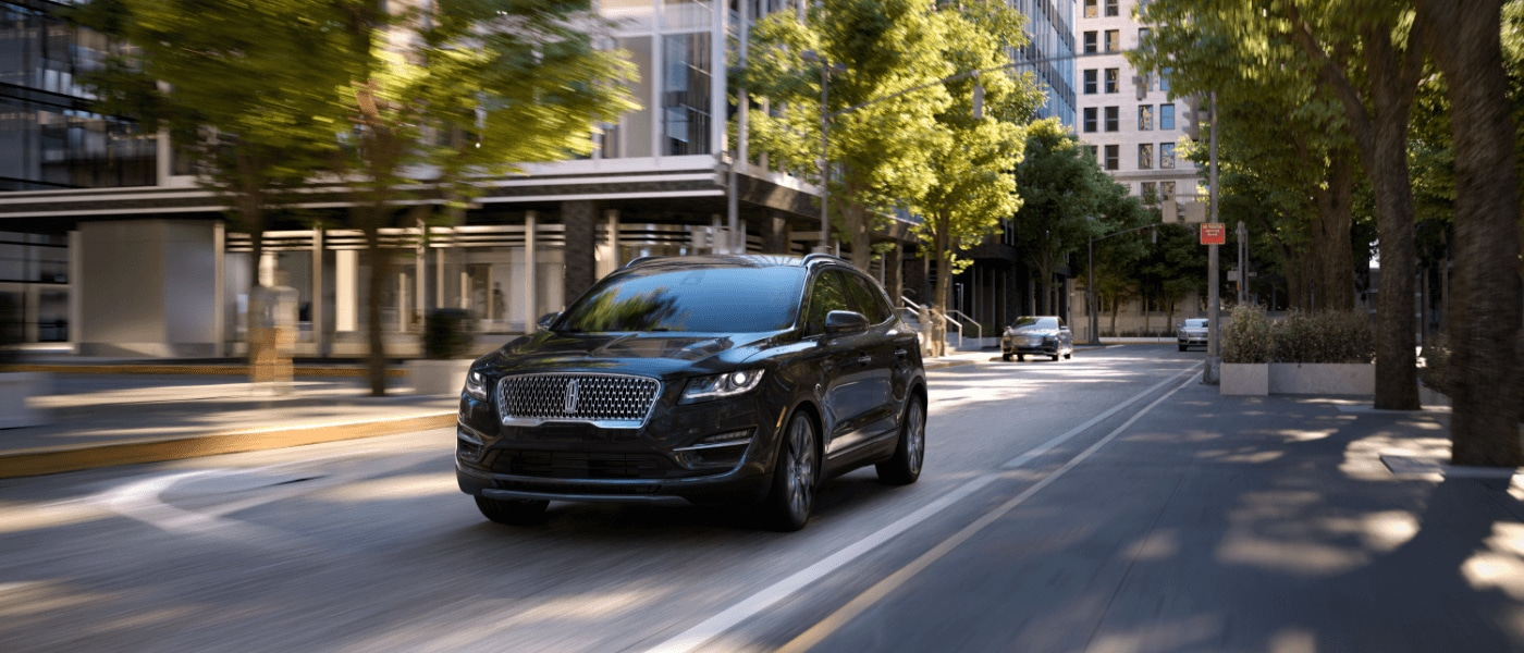 2019 Lincoln MKC driving through a city
