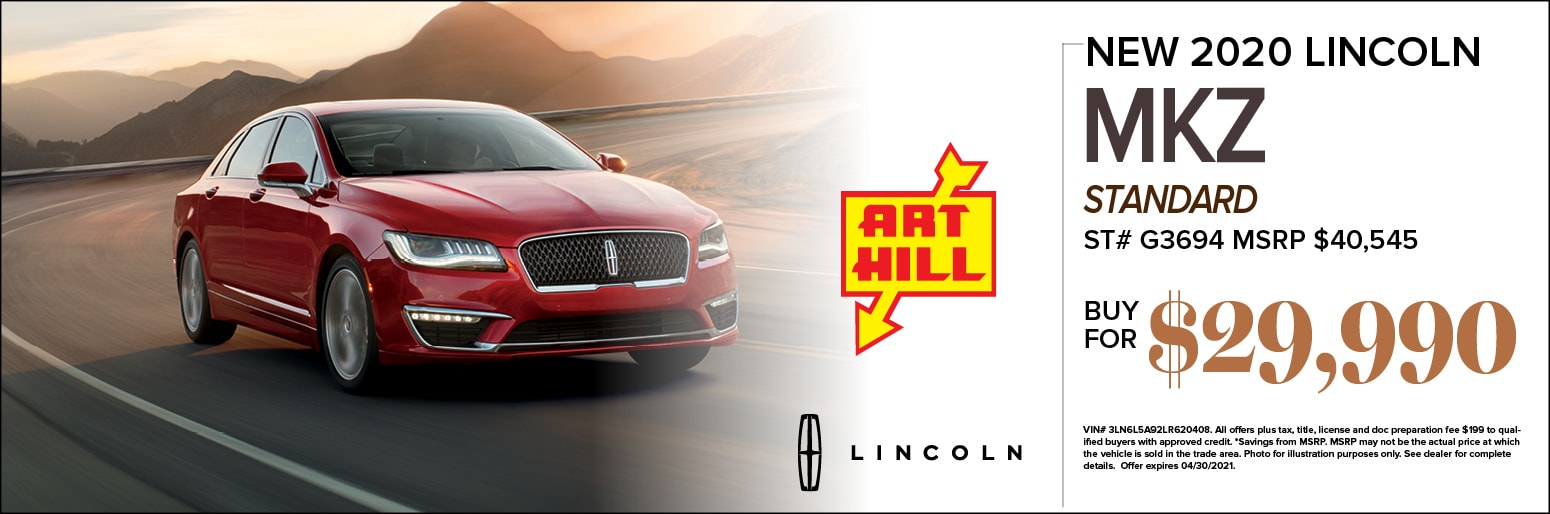 New 2020 Lincoln MKZ Standard Special Offer