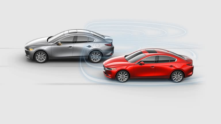 2019 Mazda Mazda3 blind spot detection diagram