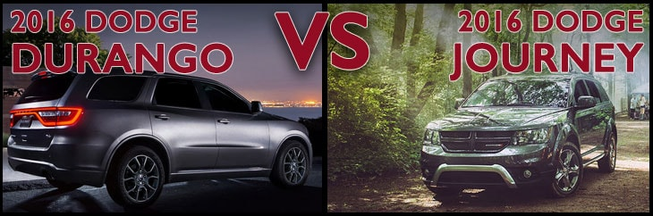 New Dodge Durango vs. New Dodge Journey in Asheboro NC