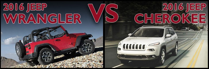 New Jeep Wrangler vs. New Jeep Cherokee Asheboro NC