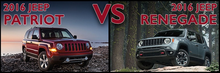 New Jeep Patriot vs. New Jeep Renegade Asheboro NC