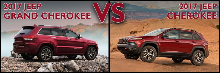Jeep Grand Cherokee vs. Jeep Cherokee in Asheboro NC
