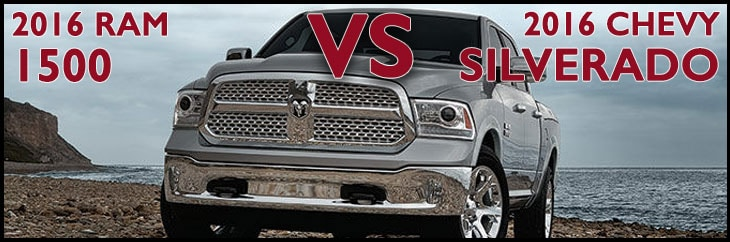 New Ram 1500 vs. New Chevrolet Silverado 1500 in Asheboro NC