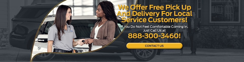 We Offer Free Pick Up And Delivery For Local Service Customers!