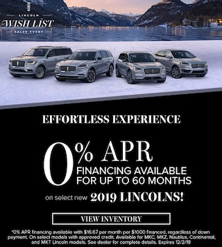 0% APR Financing Available for up to 60 months