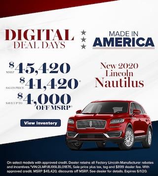 New 2020 Lincoln Nautilus