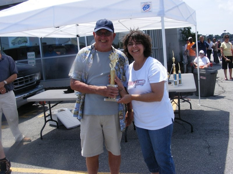 Bob Hart won 1st place in the Custom category with his 1954 Ford Mainline