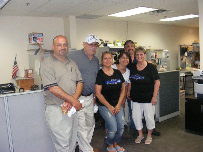 Part of the Ashley Ford Crew - Manny Espinola, Bob Bancroft, Cheryl Fredette, Linda Ferreira, Manny Souza and Dorothy Mello