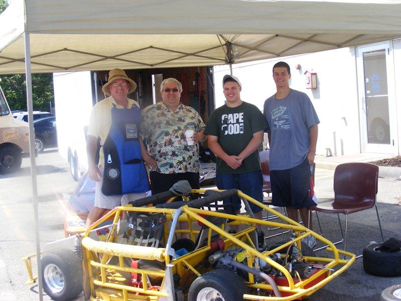 Dan Sullivan, Gary Freitas, Adam's friend (?), & Adam Swift of the Swift Racing Team.