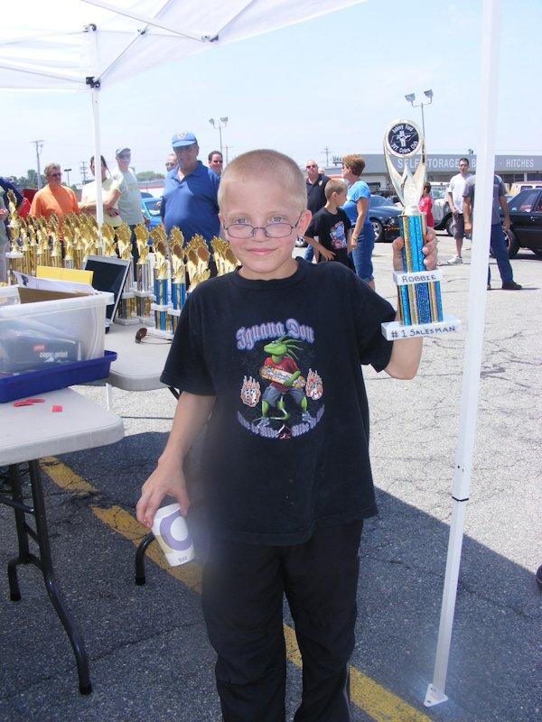 Robbie - awarded the future salesperson award!