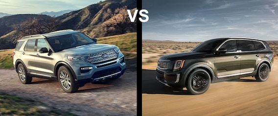 2020 Ford Explorer Vs Kia Telluride Astorg Ford Lincoln