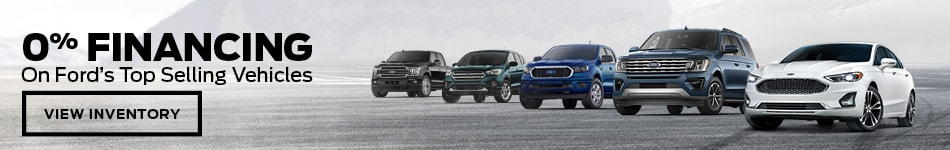 0% Financing on Ford's Top Selling Vehicles