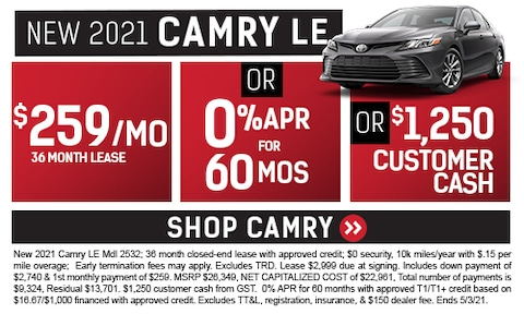 New 2021 Camry LE Special
