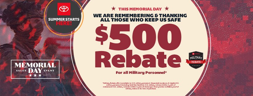 Memorial Day Sales Event at Bryan College Station Toyota in Bryan, TX