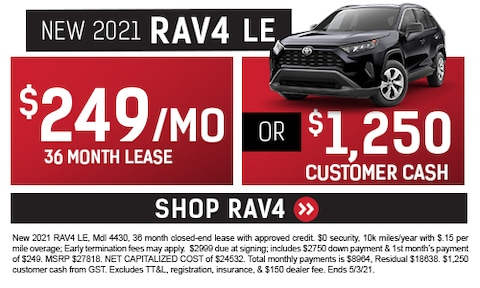 New 2021 RAV4 LE Special