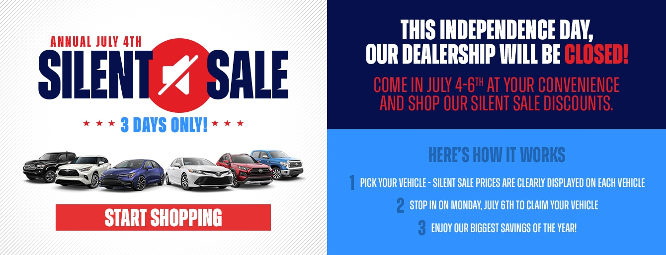 Annual July 4th Silent Sale at Bryan College Station Toyota!