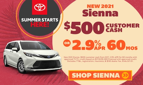 New 2021 Sienna Special