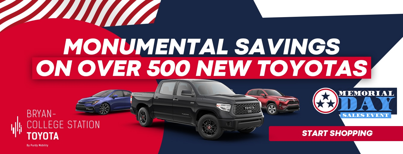Memorial Day Sales Event at Bryan College Station Toyota