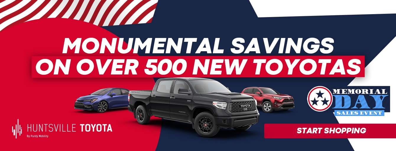 Memorial Day Sales Event at Huntsville Toyota