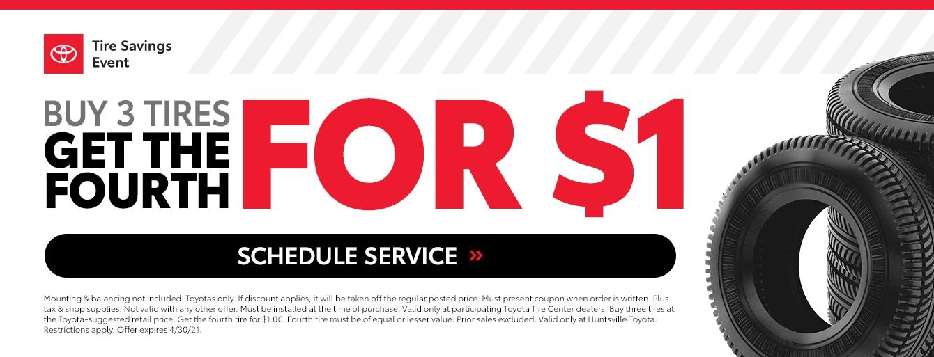 Toyota Tire Savings Event at Huntsville Toyota