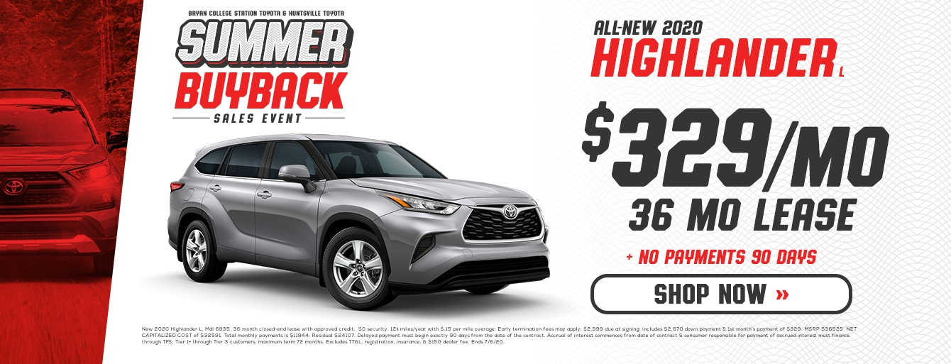 Summer Buyback Sales Event at Huntsville Toyota