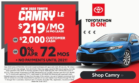 New 2020 Camry LE - December