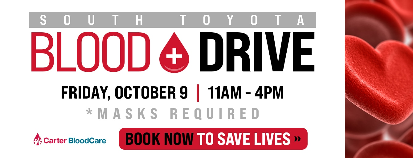 South Toyota Blood Drive October 9th, 2020