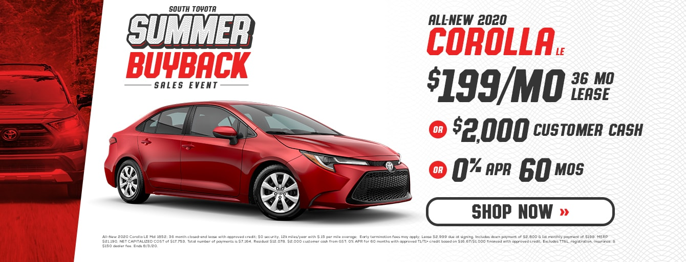 South Toyota Summer Buyback Sales Event