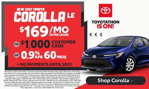 New 2021 Corolla LE  - December