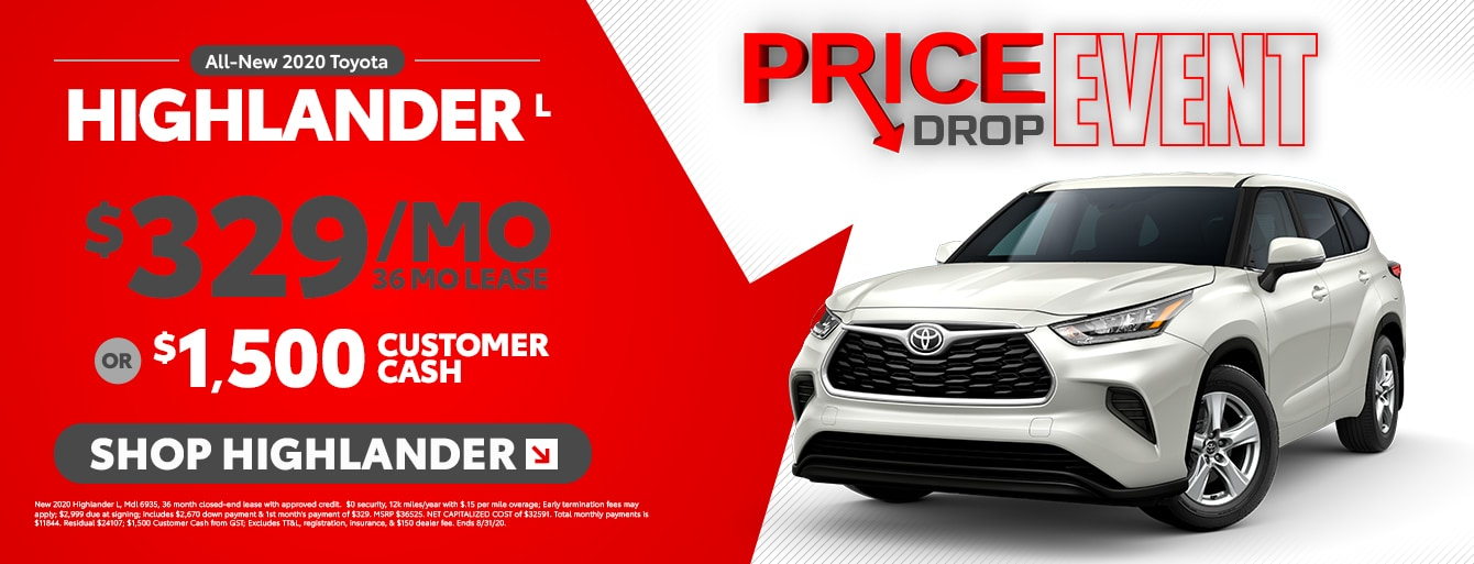 The Big Price Drop Event at South Toyota!