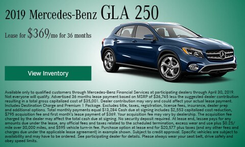 April 2019 GLA 250 Lease Offer