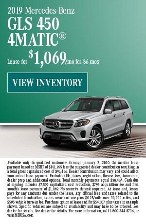 December 2019 Mercedes-Benz GLS 450 4MATIC® Lease Offer