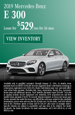 January 2019 Mercedes-Benz E 300 Lease Offer