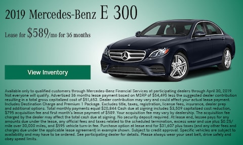 April 2019 E 300 Lease Offer
