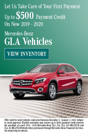 December Let Us Take Care of Your First GLA Payment Offer